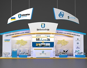 Exhibition stand Booth Design 10x6m 3D model