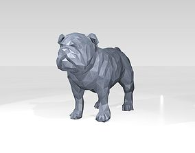 Bulldog Low Poligonal 3D model