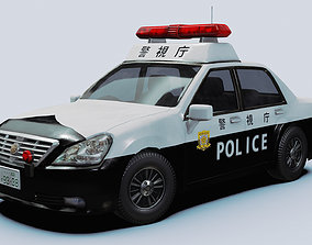 3D asset Japanese Police Vehicle
