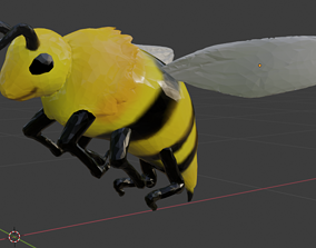 3D model a basic low poly Bee