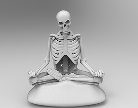 3D print model Meditating Skeleton in lotus pose