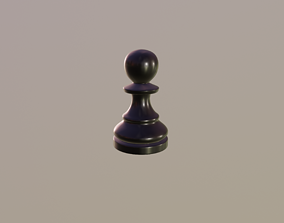 3D model VR / AR ready Chess Piece - Pawn