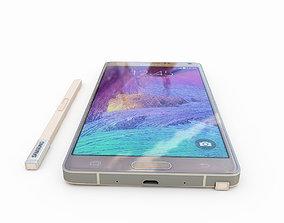 3D model Samsung Galaxy Note 4 Gold
