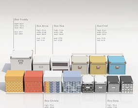 3D model Collection of storage boxes