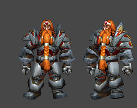 Dwarf Warrior Low-poly 3d animated model animated