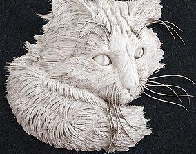 cat head 2 3D print model