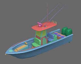 ship 3D model Fishing Boat