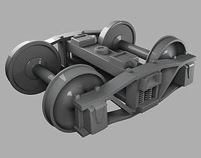 3D Train Bogie High Poly