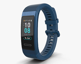 3D model Huawei Band 3 Pro Blue