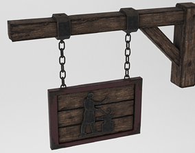 3D model Medieval Blacksmith Sign