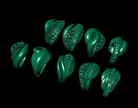 3D print model fantasy ring 9 piece
