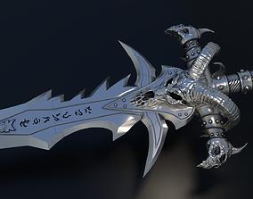 3D print model Frostmourne - Arthas the Lich King Sword 4