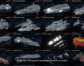 3D Pirate Clan Yellowjackets Spaceship Collection