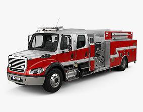 3D Freightliner M2 106 Crew Cab Fire Truck 2017