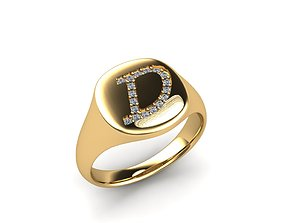 Jewelry Signature Ring 3D printable model