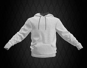 White Sweatshirt with Hoodie 3D