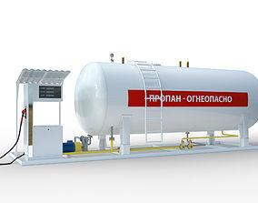 energy gas station 3D model