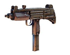 3D asset PBR Original UZI 9mm SMG PDW FIREARM