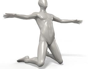 Football Goal Celebration Faceless Mannequin 3D model