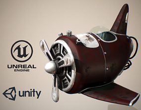 3D Toy AirPlane -Dark Red Aircraft-