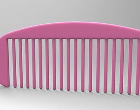 3D printable model hair comb