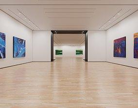 3D asset Art Museum Gallery Interior 2