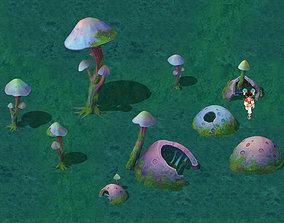 3D Cartoon version - fossil spores