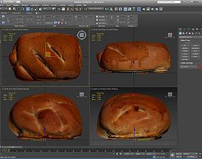 Bun with jam 3D asset