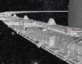 spaceship 3D starship troopers lunar base