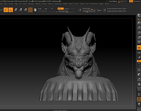 Evil dragon sculp 3D print model