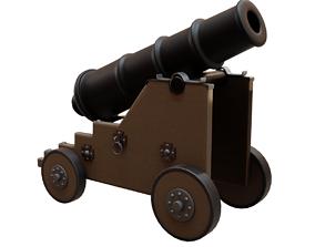 3D asset realtime Old Naval Cannon War