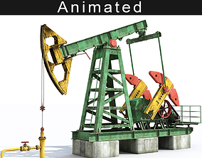 Oil pump 3D animated