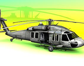 BlackHawk Helicopter 3D asset