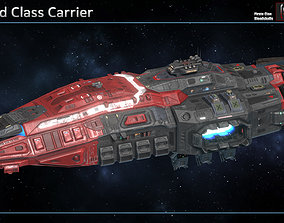 3D asset Spaceship Warlord Carrier