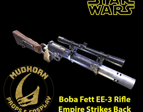 Star Wars Cosplay - Boba Fett Empire 3D print model 3