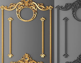 Stucco decor frame 3D