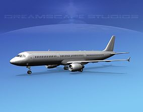 Airbus A321 Bare Metal 3D model