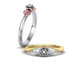 Paradise Design Floral Band ring 3dmodel N10330