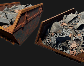 3D model game-ready Low-poly PBR Skip
