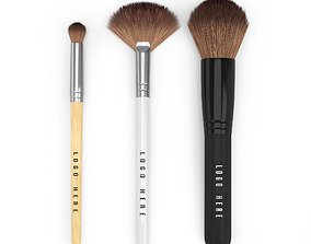 Make Up Brush Set 3D model