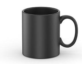Black Matte Mug 3D model