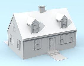 3D print model Cape Cod Style House