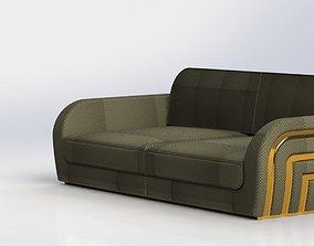 3D simple modern sofa upholstery