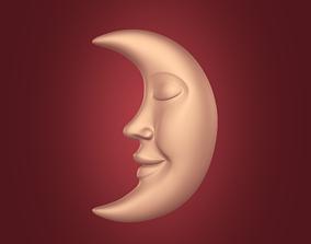 Moon Face Pendant 3D printable model