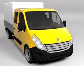 RENAULT TRAFFIC 2015 LOWPOLY 3D model