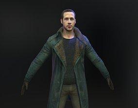 game-ready Ryan Gosling 3d model from Blade Runner 2049