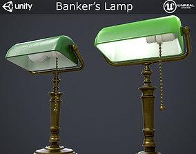 Bank Lamp 3D asset