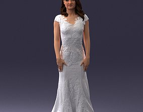 Bride in dress 0414 3D Print Ready