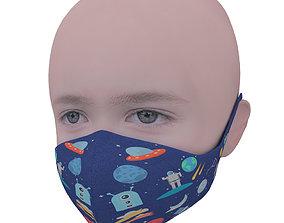 Medical mask for kids 3D model realtime