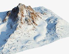 Snow mountain landscape 3D model game-ready